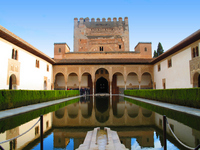 Courtyard of the Alhambra Arayanesu Stock photo [1288818] Europe