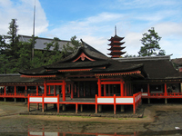 Itsukushima Shrine Kyaku-sha 腑?罧? and five-story pagoda Stock photo [1288942] Itsukushima