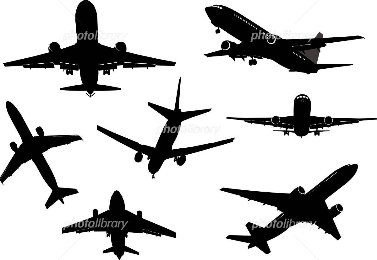 飛行機のシルエットイラスト イラスト素材 1367796 フォトライブ