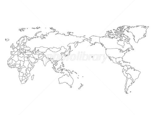 世界地図・塗り絵 画像ID 1374807 : 世界地図 塗り絵 : 世界地図