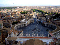 Castel Sant'Angelo from Rome of the landscape of San Pietro Stock photo [1366185] Castel