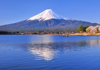 Fuji from Lake Kawaguchi shores Stock photo [1366986] Mt.