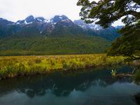 New Zealand Lake Mirror Stock photo [1371520] Oceania