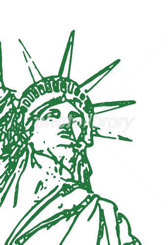 自由の女神 アップ グリーン イラスト素材 1464081 フォトライブ