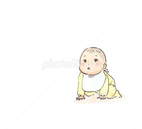 はいはいする赤ちゃん イラスト素材 1468280 フォトライブラリー