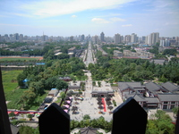 Xian as seen from the Big Wild Goose Pagoda Stock photo [1462403] China
