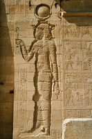 And destroyed relief of Egypt Temple of Isis Stock photo [1467814] Middle