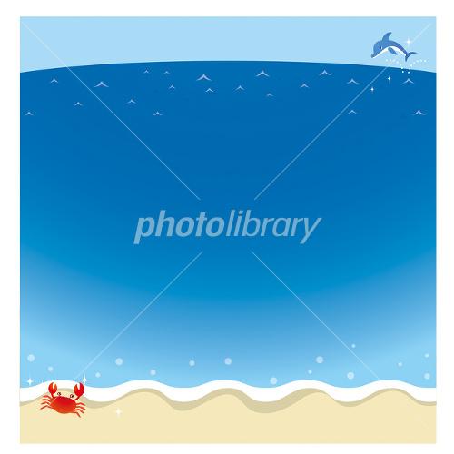 波打ち際と海のイメージのイラスト イラスト素材 1556907 フォト
