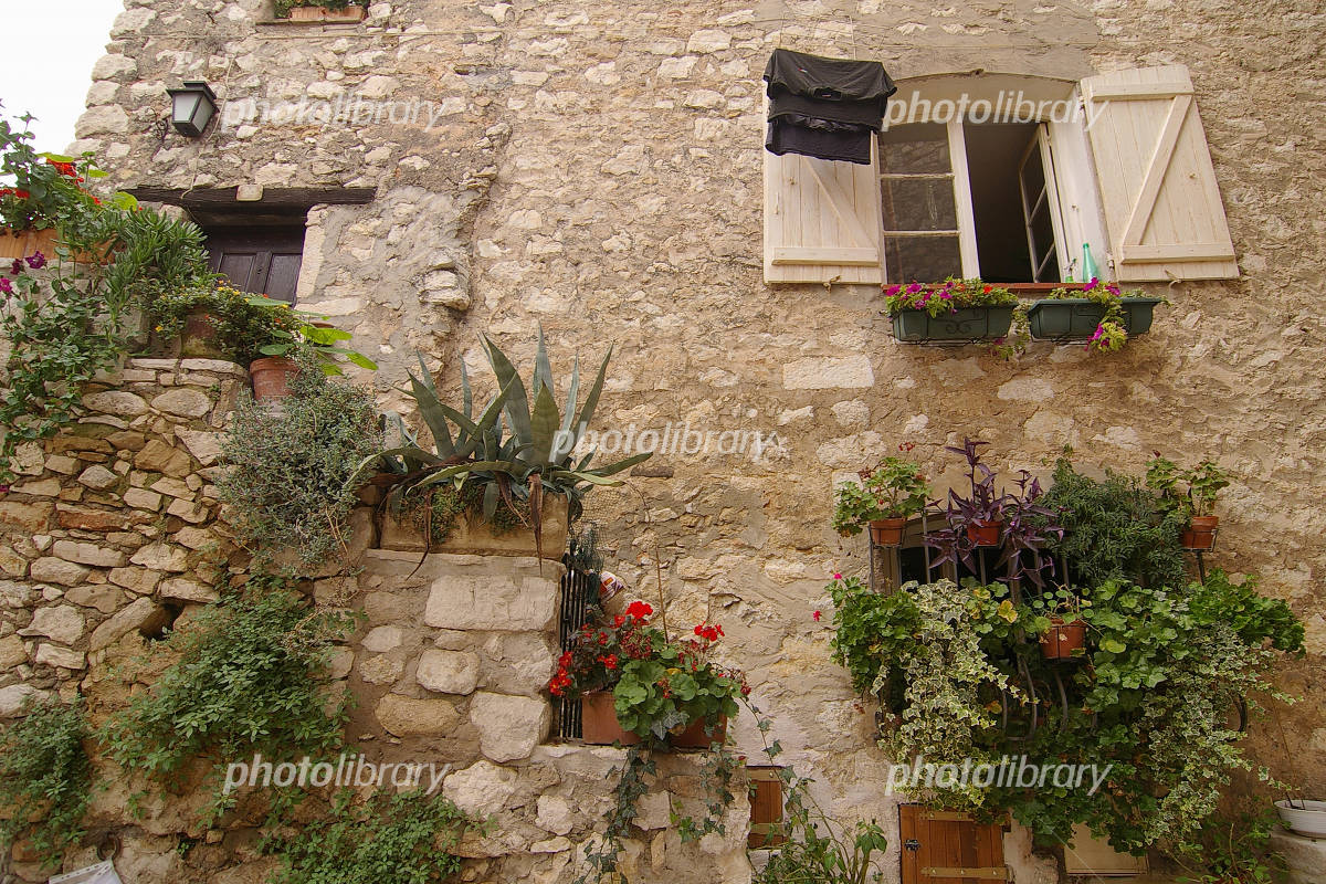 Than a small village Tourette-sur-Loup in the south of France Photo