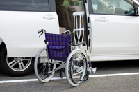 Wheelchair and car Stock photo [1561327] Welfare