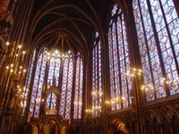 Stained glass of the Sainte-Chapelle Stock photo [1562197] Beam