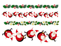Christmas Santa Claus decorations illustrations [1563698] Christmas