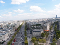 Champs-Elysees as seen from the top of the Arc de Triomphe Stock photo [1566294] France