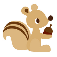Squirrel and acorn Squirrel
