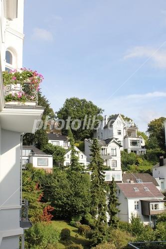 ドイツ ハンブルクの高級住宅地の写真