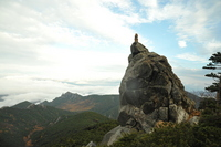 Rui 牆山 seen from Mount Kinpu hut Stock photo [1665367] Kofu,