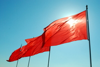 China Tiananmen red flags Stock photo [1668348] China