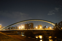 Water ear bridge at night Stock photo [1669028] Hokkaido