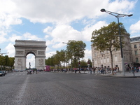 Arc de Triomphe from the Champs-Elys辿es Stock photo [1669221] France