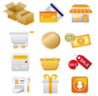 Shopping icon price tag gold shopping tag [1748462] Shopping