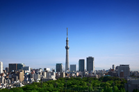 Tokyo Sky Tree and blue sky Stock photo [1947189] Blue