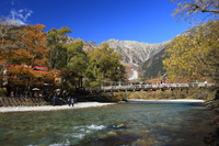 Kamikouchi of autumn Kappa Bridge and Azusa Stock photo [1951286] High