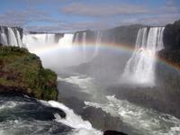 Iguazu Falls and rainbow Stock photo [1952886] Iguazu