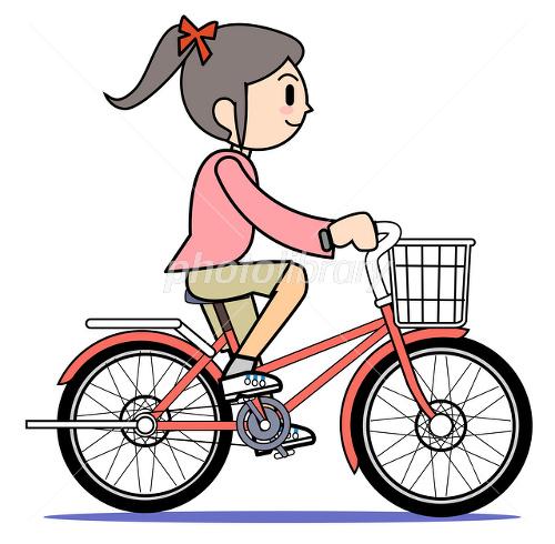 自転車に乗るママ イラスト素材 [ 2056616 ] - フォトライブラリー ...