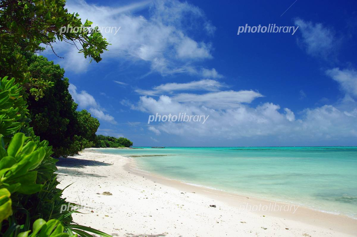 Beach of Okinawa Taketomijima in midsummer Photo