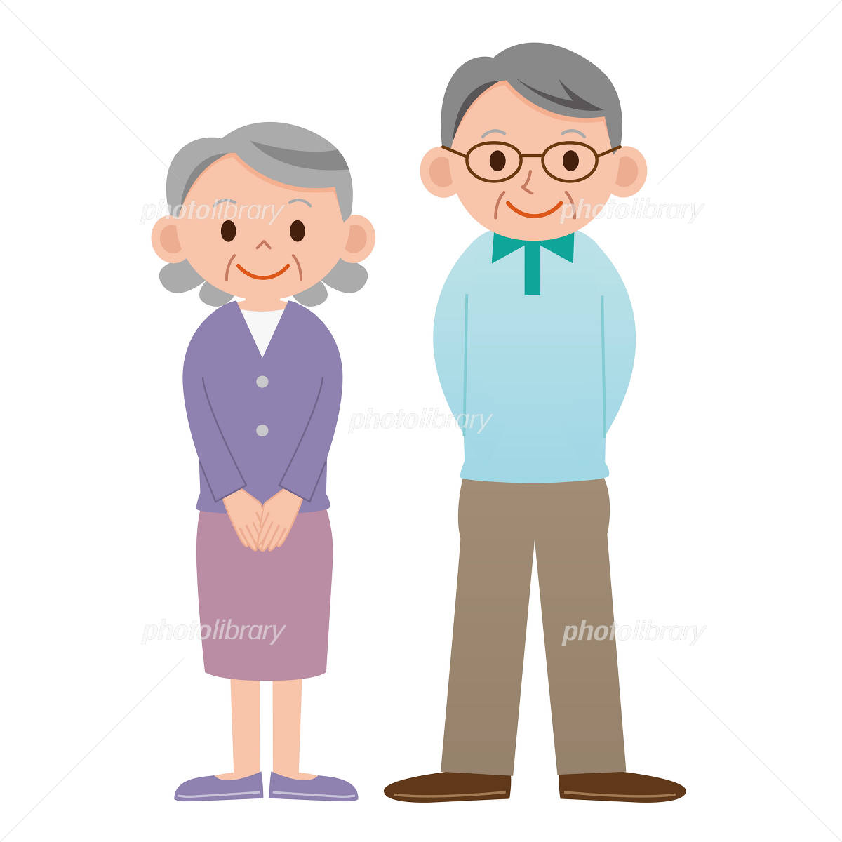 Senior couple イラスト素材