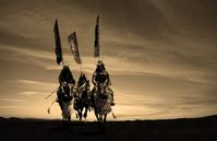 Kibamusha towards battlefield stock photo
