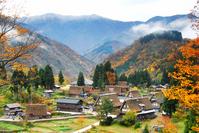 Autumn landscape of mountain village Stock photo [2062005] Gokayama