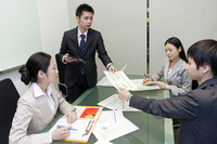 Businessman who perform the conference Stock photo [2065996] Businessman