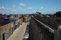 Walls that blend into the town of Mexico Campeche Stock photo [2156259] Campeche