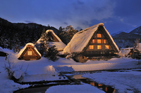 Shirakawa-go Myozenji Light up Stock photo [2156983] Shirakawa-go