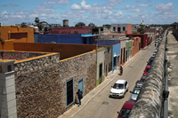 Mexico Campeche rooftops and walls Stock photo [2157856] Campeche