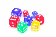Colorful dice white back Stock photo [2158164] Dice