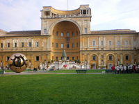 Courtyard of the Vatican Museums group Stock photo [2158524] Vatican