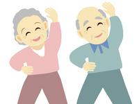 Senior couple to the radio gymnastics [2158914] Lifestyle