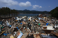 Rubble Kamaishi the Great East Japan Earthquake Stock photo [2159821] Rubble