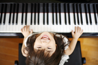 Girl playing the piano Stock photo [2163456] Piano