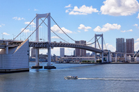 Tokyo Bay of pleasure boat and Rainbow bridge blue sky spreads Stock photo [2164419] Landscape