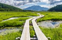 Ozegahara Mount Hiuchigatake and Chi Stock photo [2164823] Oze