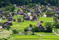 Gassho village panoramic view of the world heritage / Shirakawa-go Stock photo [2166217] Shirakawa-go