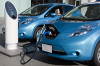 Electric vehicle charging Stock photo [2167398] Electric