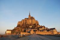 Sunrise of Mont-Saint-Michel Stock photo [2283665] Mont