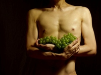 Naked man with devoted grapes Stock photo [2295474] Nude