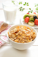 Cornflakes and fruit Stock photo [2295775] Cornflakes