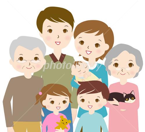 7人家族 バストショット イラスト素材 2417880 フォトライブラリー