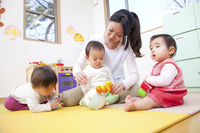 Nursery and nursery school children playing with toys Baby